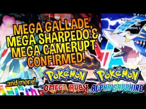 Mega Gallade, Mega Sharpedo, & Mega Camerupt CONFIRMED – Pokémon Omega Ruby and Alpha Sapphire