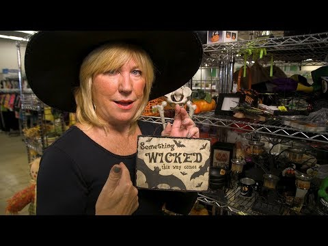 WGN Goodbuy Girl Judy Pielach Finds Halloween Items At Goodwill in Downers Grove
