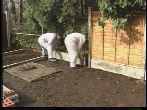 How to erect a fence with concrete posts