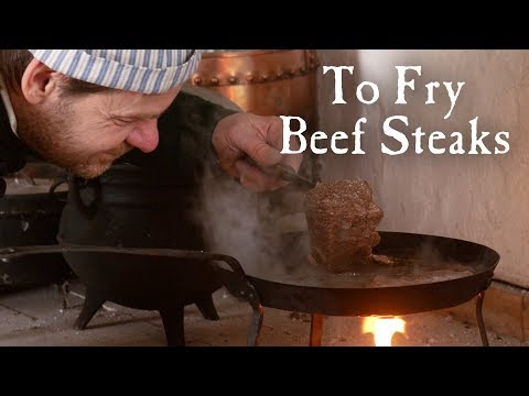 Steaks Fried in Ale - A Recipe from The Art of Cookery