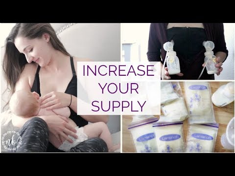 HOW TO INCREASE YOUR BREAST MILK SUPPLY | My Experience | Natalie Bennett