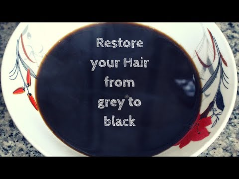 TURN YOUR GREY HAIR TO SHINY BLACK NATURALLY