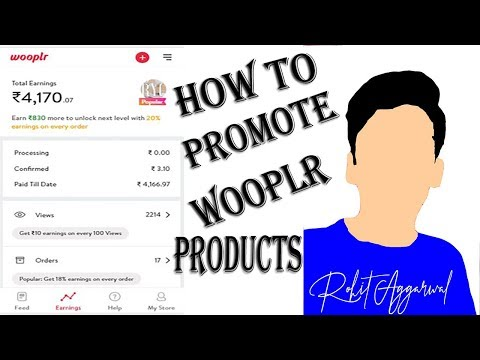 How To Promote OR Sell Wooplr Products On Facebook AND Whatsapp FREE IN HINDI || 2018 ||