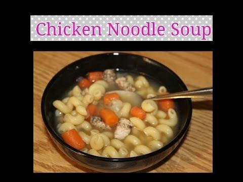 Receta: Chicken Noodle Soup!(Sopa de pollo con verduras) FACIL