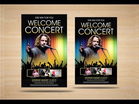 CorelDraw x7 - Tutorial-Music Concert Flyer Design By AS GRAPHICS