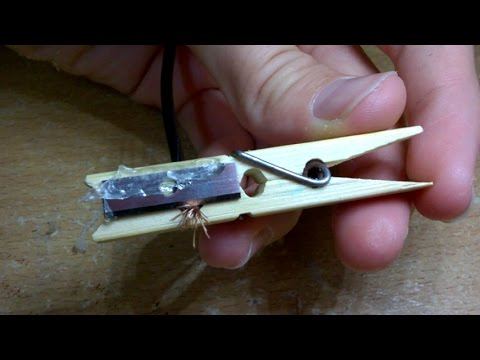 How to make a Wire Stripper from a clothes pin.(diy wire stripper)