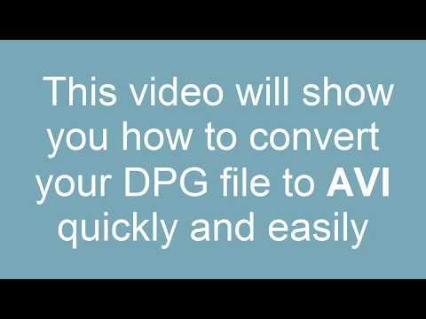 How to convert DPG to AVI
