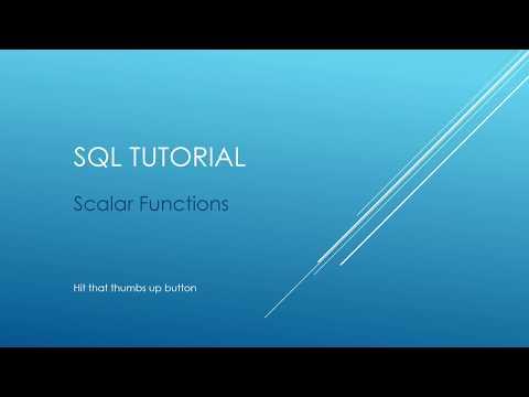 SQL Tutorial - Scalar Functions