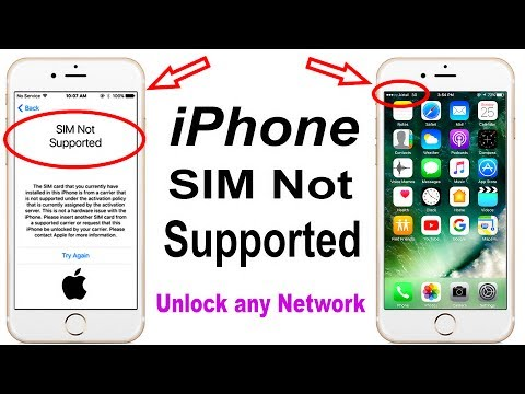 July 2017 Network Unlock || iPhone SIM Not Supported || SIM UNLOCK
