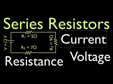Resistors (1 of 11) in Series, Calculating Voltage, Resistance and Current
