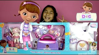 Doc McStuffins Doc is in Deluxe Doctor Set I really enjoy this Doc McStuffins Doctors Set is huge and it