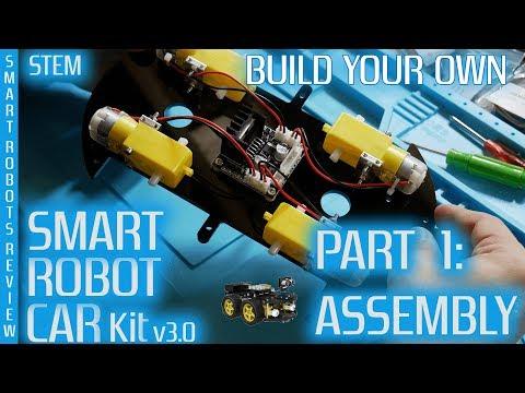 Smart Robot Car - Build your own - Part 1 - Arduino - Elegoo v3 - Smart Robots Review