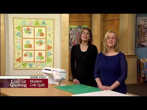 Love of Quilting: How to Make Bunting, Block & Balloons Baby Quilt (2211)