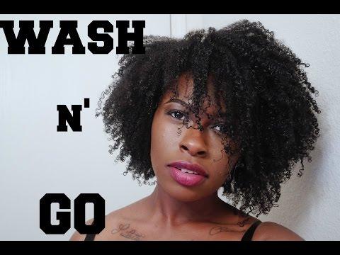 NATURAL HAIR | Perfect Summer Wash & Go (on 4b, 4c hair)