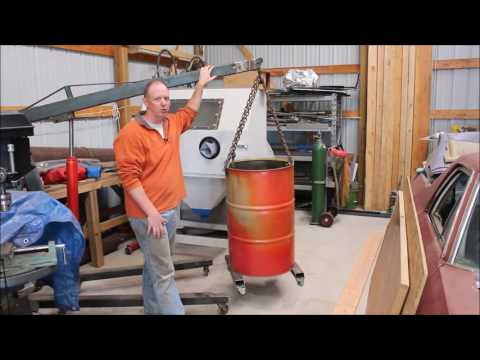Using a 55 gallon drum for a scrap metal barrel