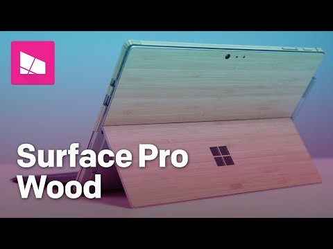 Skin your Surface Pro with a real wood cover from Toast