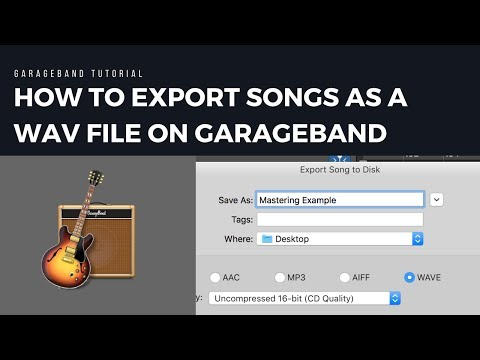 How to Export Songs as a WAV File on Garageband