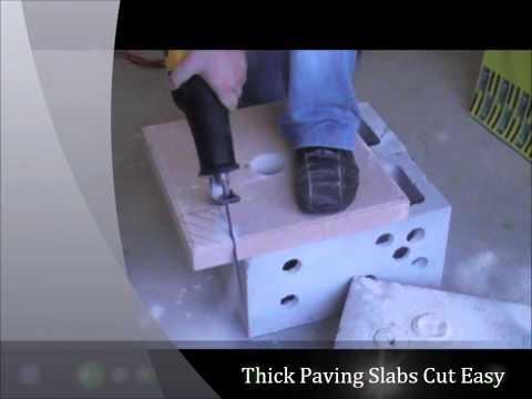 Tungsten Reciprocating Blade Cutting Concrete Block & Paving Slab