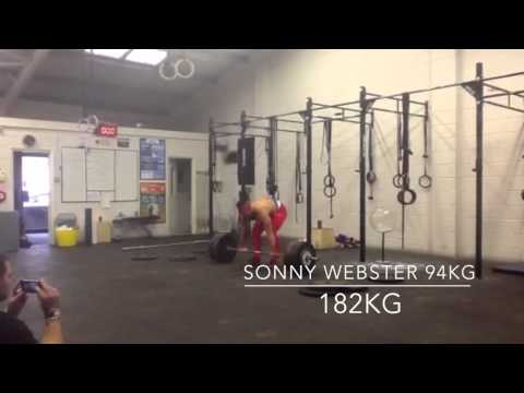Sonny Webster weightlifting Training video 25/10/14 CROSSFIT 605