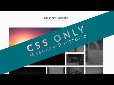 Masonry Portfolio CSS ONLY - HTML5, CSS3, CSS Grid, CSS Lightbox - NO JAVASCRIPT (deutsch / german)