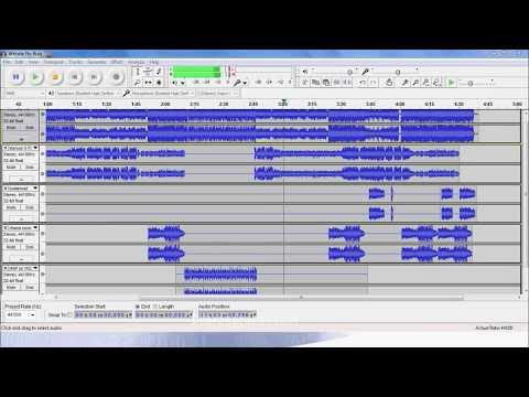 Remix Mashup song with audacity
