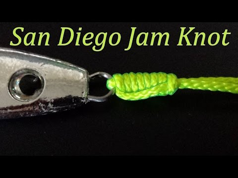 How to tie a San Diego Jam knot   94% strength of fishing line   Fishing Knots