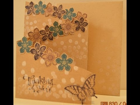 Blooming Cascading card
