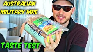 Testing Australian Military MRE (Meal Ready to Eat)