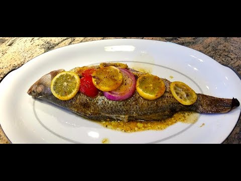 Oven Baked Striped Bass | Oven Roasted Whole Baked Fish Recipe