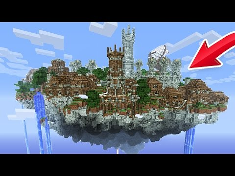 BUILDING A SKY CITY! (Minecraft Skyblock)
