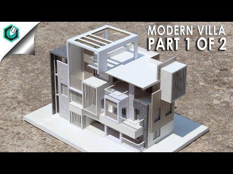 MODERN VILLA-2 | How to make realistic villa house | PART 1 of 2