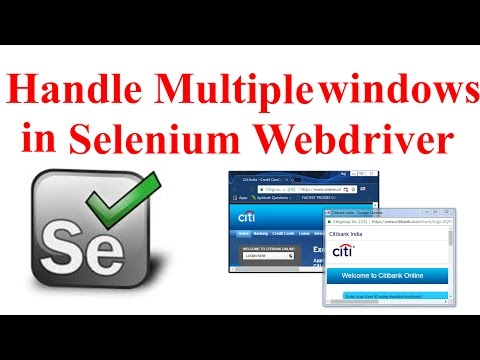 How to Handle Multiple Windows,switch windows using Selenium WebDriver | Interview Question