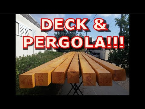 Building A Deck and A Pergola - woodworking