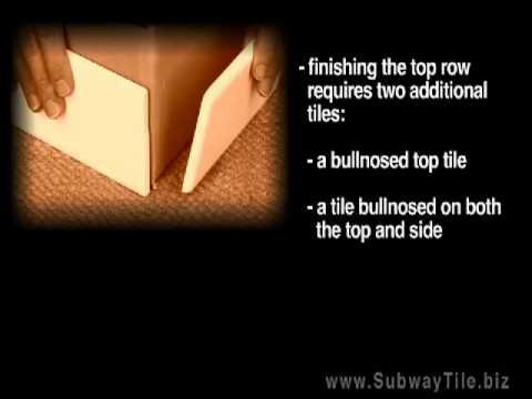 Finishing corners with subway and chair rail tile -- subwaytile.biz
