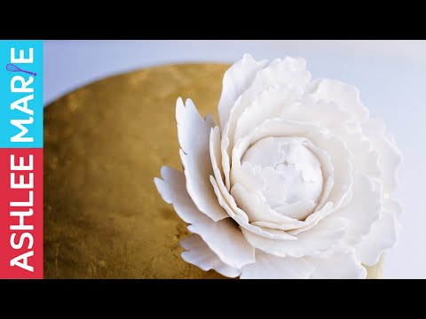 How to make a gumpaste peony