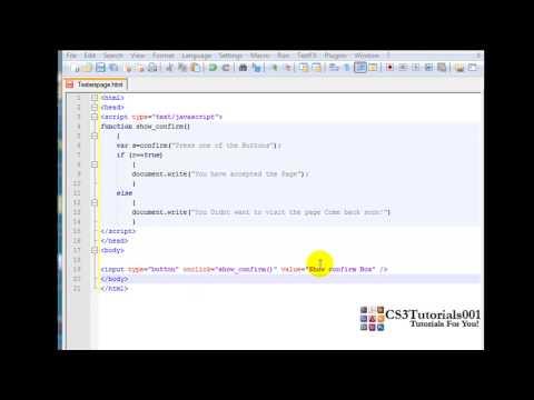 Javascript Tutorial -12- Confirm Box