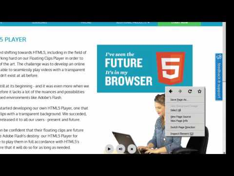 An HTML5 video player with transparency that looks exactly like the old Flash player