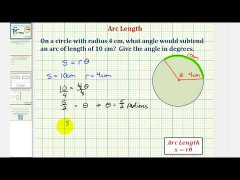Ex: Find the Angle that Subtends a Given Arc Length