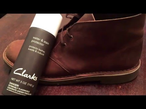 Clarks Boots Leather Water and Stain Protector review