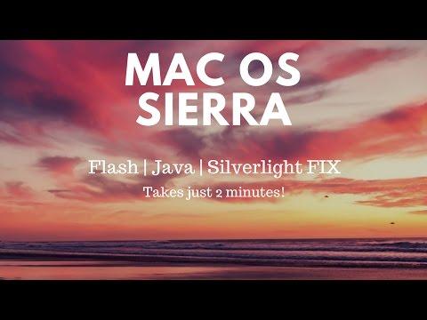 Mac OS Sierra | Flash | Java | Silverlight Fix