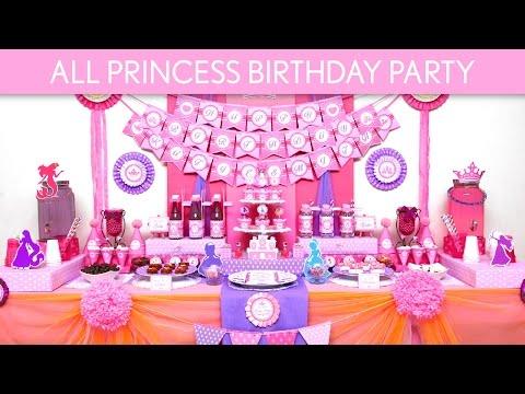 All Princess Birthday Party Ideas // All Princess - B134