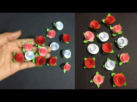 How to Make Small Rose Paper Flower | Making Paper Flowers Step by Step | DIY-Paper Crafts