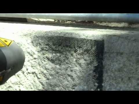 1000 Watt Laser Cleaning Historic Stone .wmv