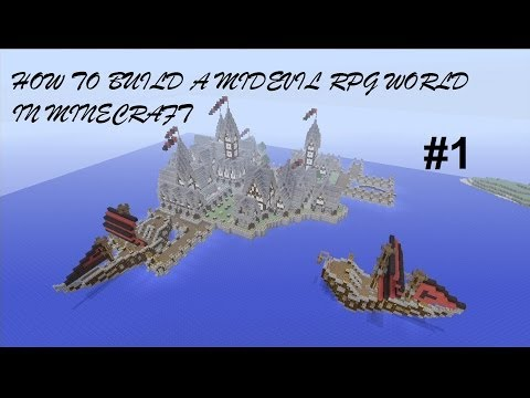 How to build a Medieval RPG World in Minecraft - Episode 1 ( Xbox 360 )