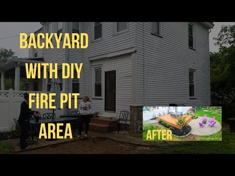 Deck and Fire Pit Installation