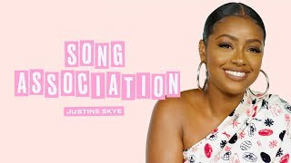 Justine Skye Sings JLo, Beyoncé, and John Legend in a Game of Song Association | ELLE