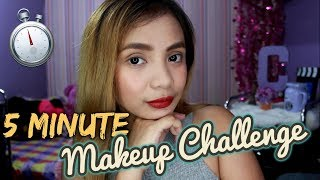 5 Minute Makeup Challenge ( Giveaway Winners Announcement) | Cheska Aguiluz
