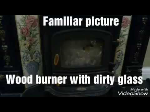Wood burning stove - glass cleaning
