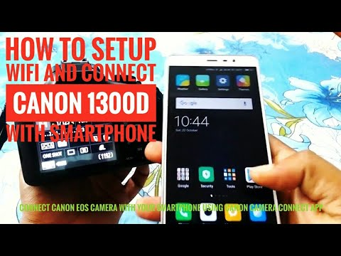How to setup WIFI and connect canon 1300d with smartphone HD | Hindi