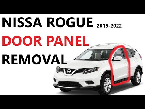 How to replace Door panel / Mirror On Nissan Rogue Qashqai  2014 2015 2016